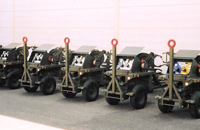 Military NATO Fixed 4 Cylinder Nitrogen Trolley