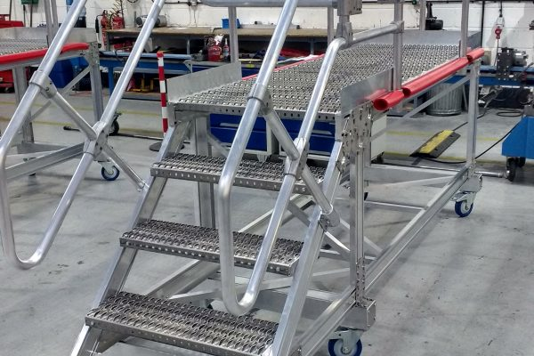 Rail Side Access Maintenance Platform with Double Swing Gates H1.15m