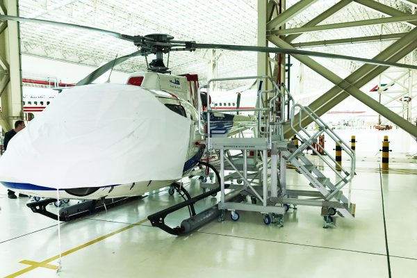 Fixed Height Side Fuselage Access Platforms AS350