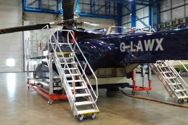 Variable Height Mobile Helicopter Access Platforms LH & RH