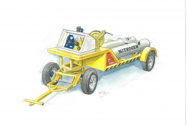 Nitrogen Trolley – 2 Cylinder Fixed (45L)