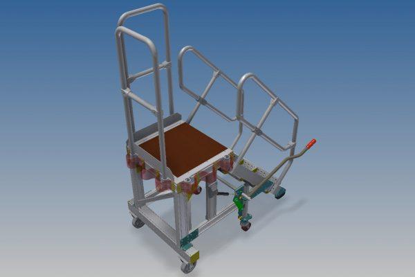 HOP UP General Engine Access Platform 4 Step H1.0m
