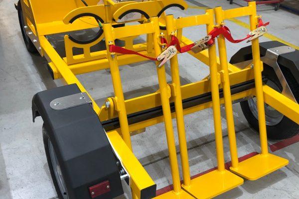 Oxygen Trolley – 3 Cylinder Demountable