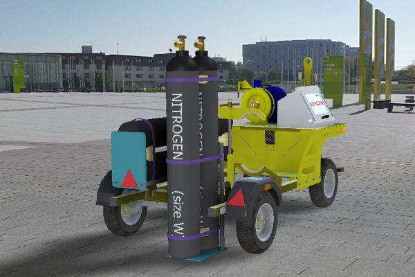 Nitrogen Trolley – 4 Cylinder Demountable