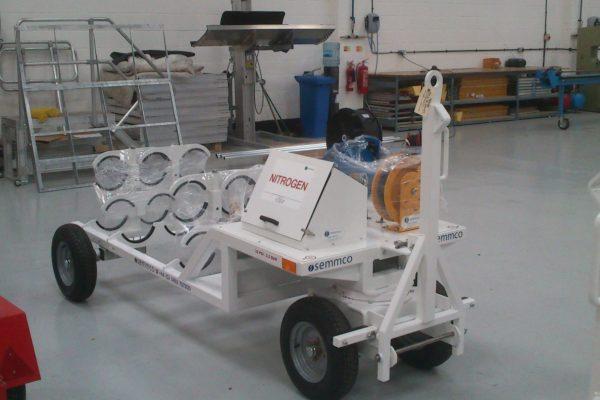 Nitrogen Trolley – 6 Cylinder Fixed (45L)