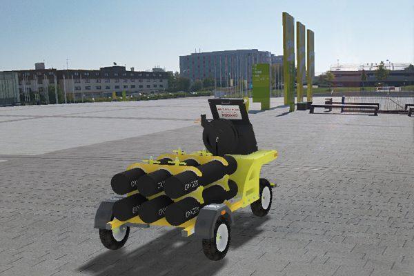 Oxygen Trolley – 6 Cylinder Fixed (45L)