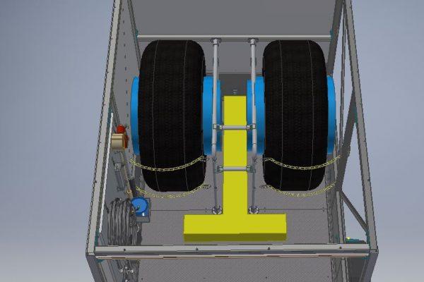 Wheel & Brake Service Trailer (WBST) SMALL with RA rear ramp