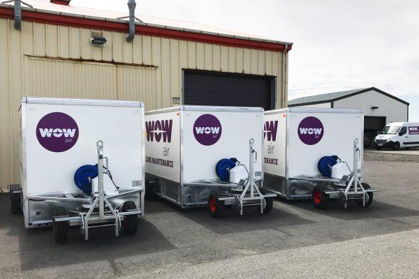 Wheel & Brake Service Trailer (WBST) MEDIUM with RA rear & side ramp – on-board nitrogen