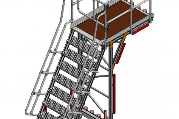 Fixed Height Engine Build & Strip Platform 2.5m