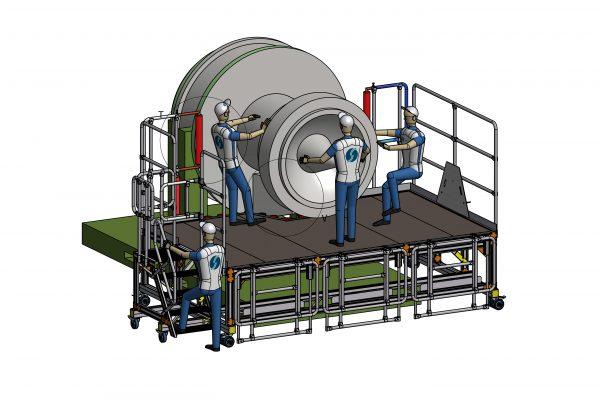 Fixed Height Engine Build & Strip Trent 1000 E4 Access Platform 1.1m