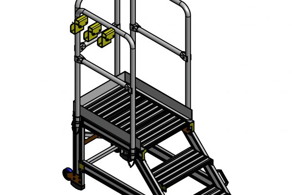HOP UP Step with Hand rails & rubber feet H0.75m