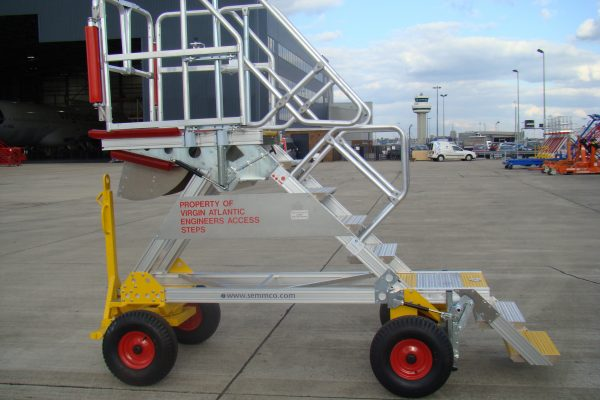 Fixed Height Under Cowl Access Steps with Flip Up Step 1.8m – 2.3m UCAS Lite (towable)