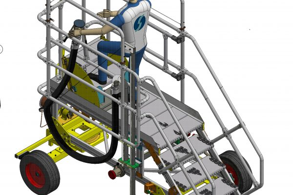 Dual Height Refuelling Steps Towable H1.2m & 1.65m