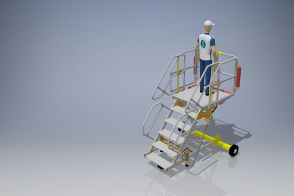 Fixed Height Engineers Maintenance Steps 1.5m