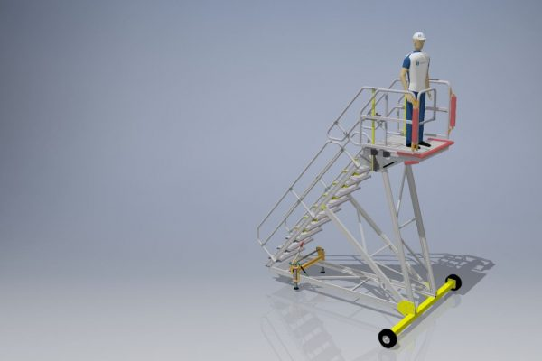 Fixed Height Engineers Maintenance Steps 3.0m