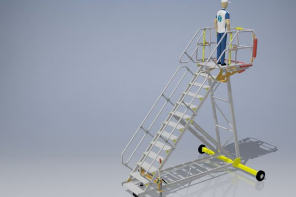 Fixed Height Engineers Maintenance Steps 3.25m L1.0m W1.0m