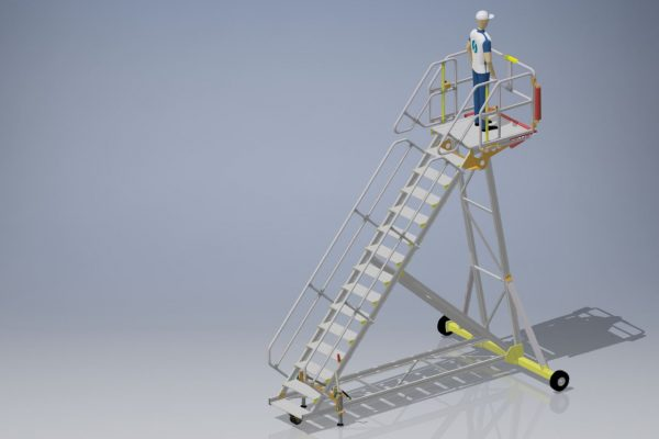 Fixed Height Engineers Maintenance Steps H3.75m L1.0m W1.0m