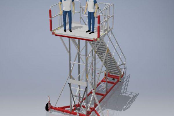 Fixed Height Engineers Maintenance Platform H4.25m L1.6m W2.0m