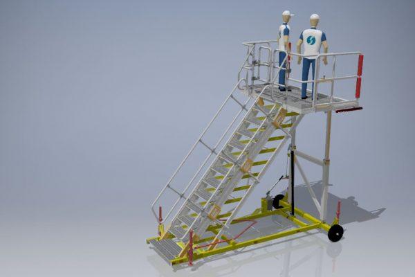 Variable height platform H1.9m – 3.25m W2.2m L1.5m