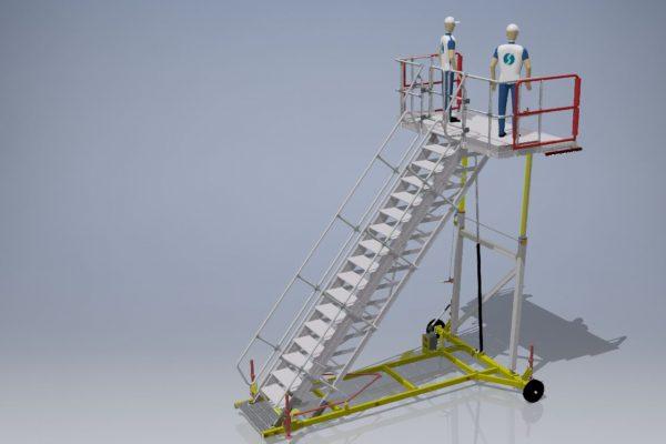 Variable Height PAX Door A320 Platform & Wide Body  H3.0m – 4.5m | W3.0m | Sliding side rails