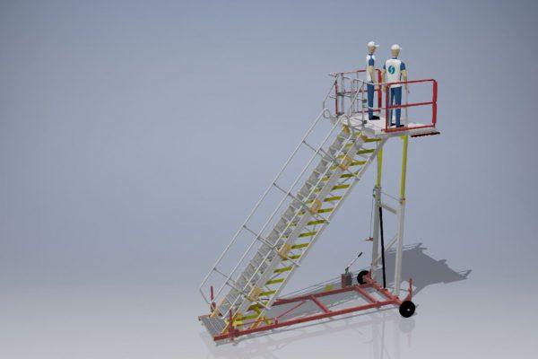Variable Height PAX Door A320 Platform & Wide Body  H2.5m – 4.5m | W2.2m | Sliding side rails