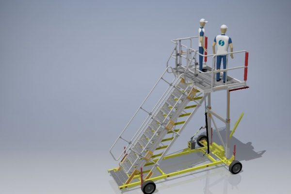 Variable Height Platform H1.9 – 3.25m | W2.2m