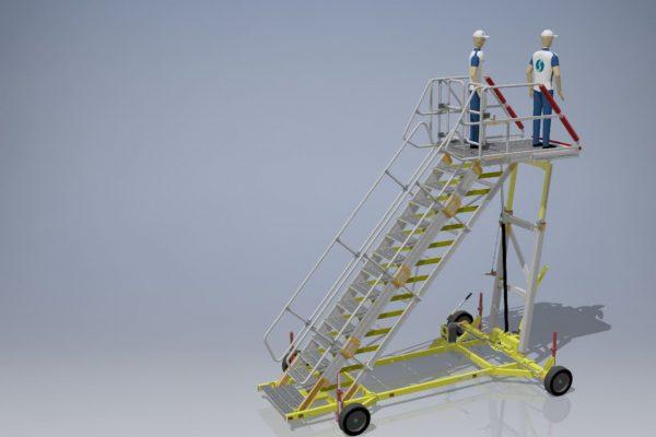Variable Height Bulk Cargo Bay & Working Platform H2.5-3.7m
