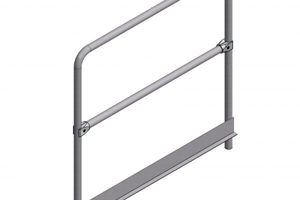Handrail with toe board – for use with Semmco Pit Boards