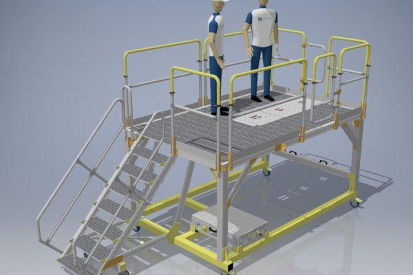 Fixed Height Main Landing Gear Access Platform LH H1.68m