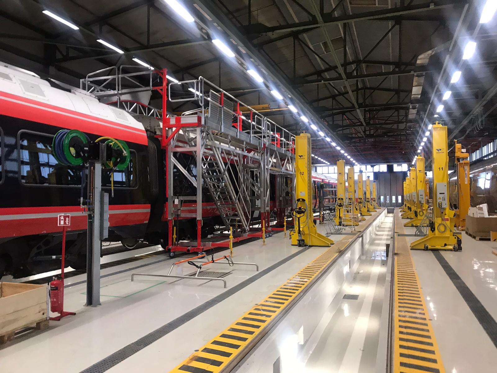 ALSTOM: Supplying working at height and side access solutions  in a restricted workshop space
